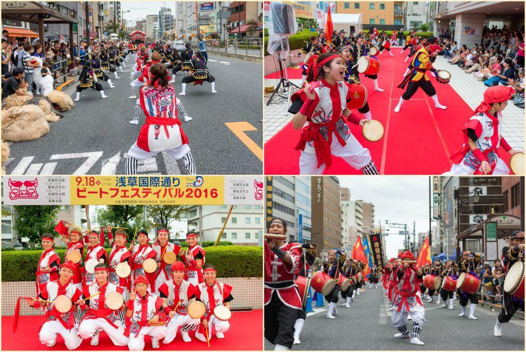 浅草エイサーパレード 昇龍祭太鼓2