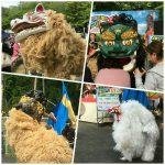 昇龍祭太鼓の獅子たち