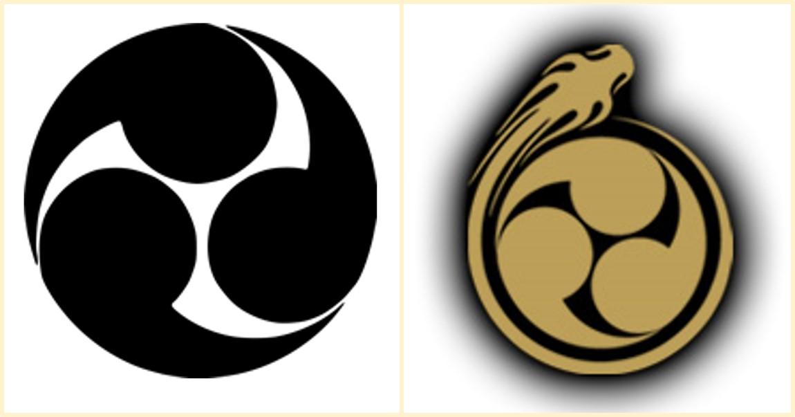 左巴と昇龍ロゴ