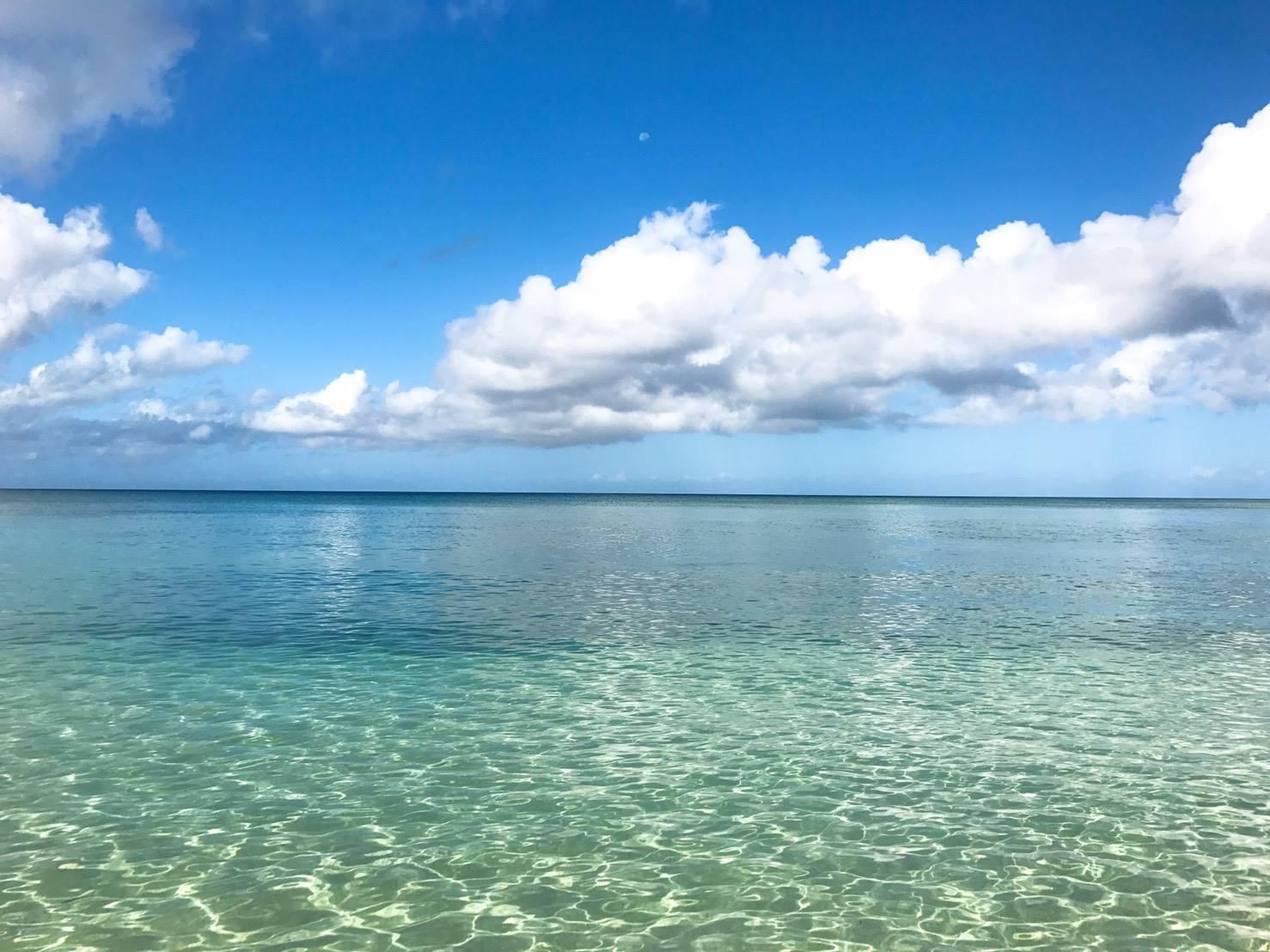 沖縄の海に感動