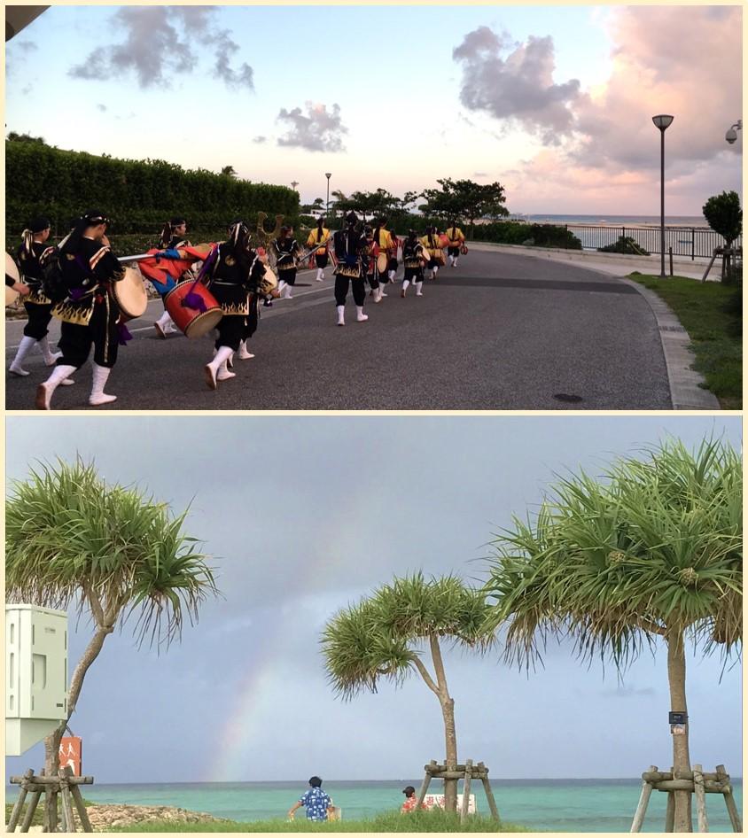 移動中に虹