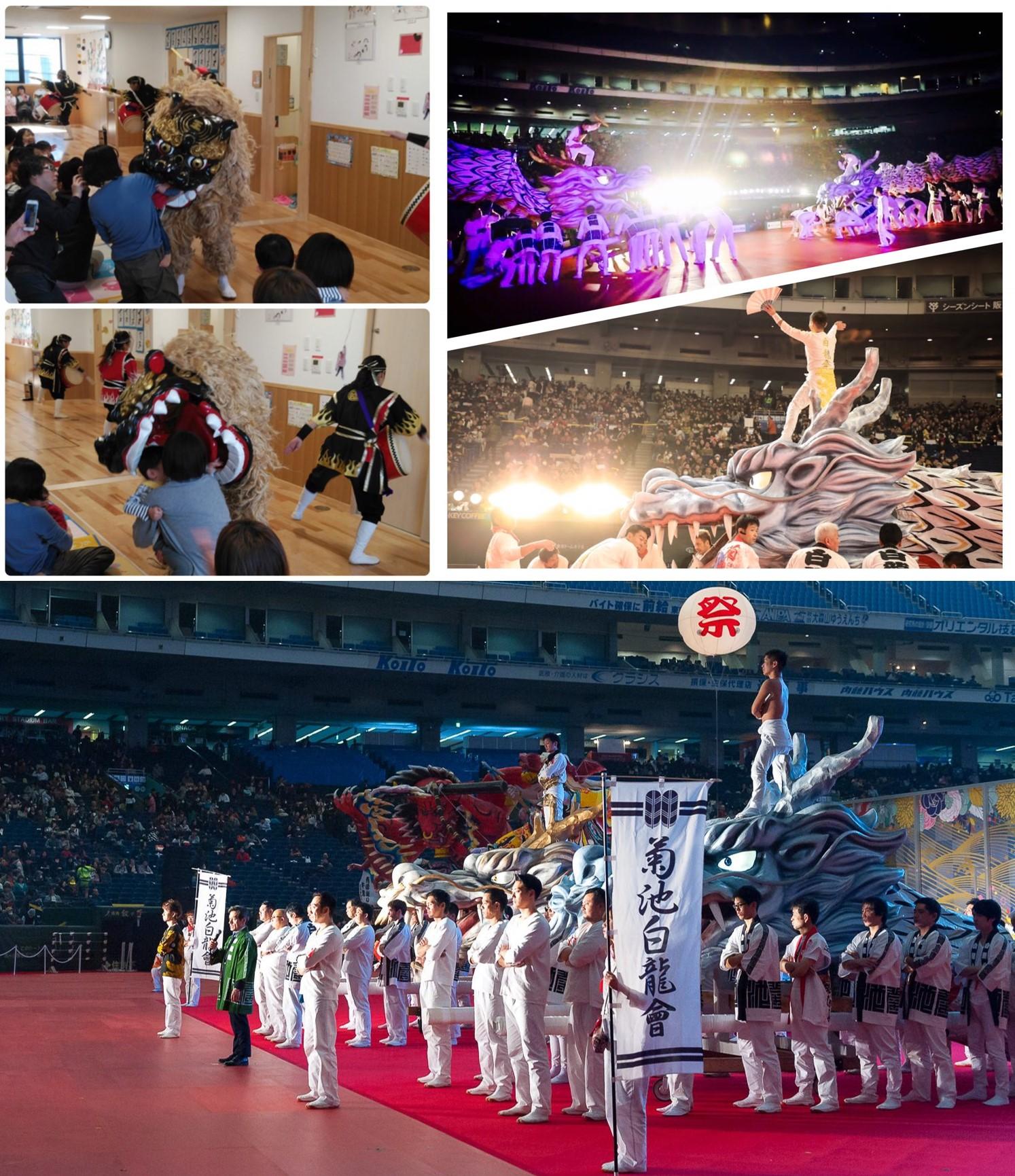 1月の昇龍祭太鼓