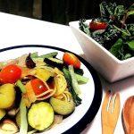青パパイヤと夏野菜のぺペロンチーノ
