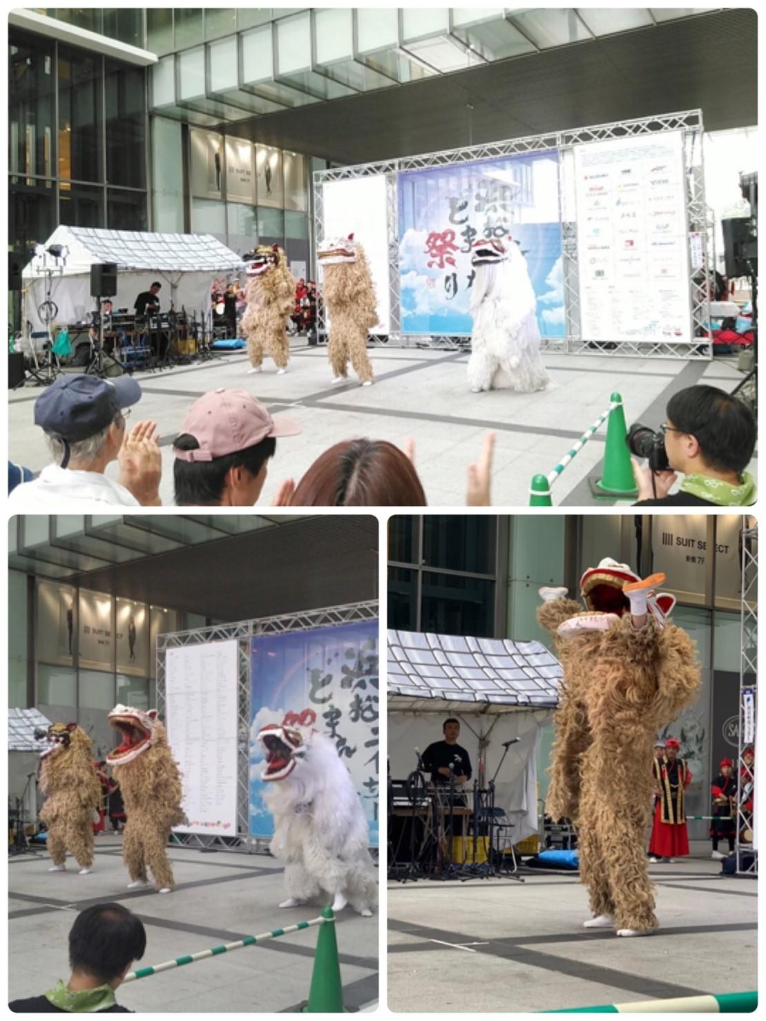 オープニング獅子舞