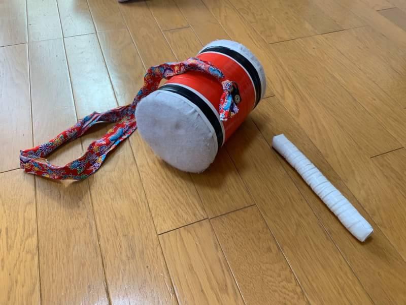 ミルク缶の太鼓