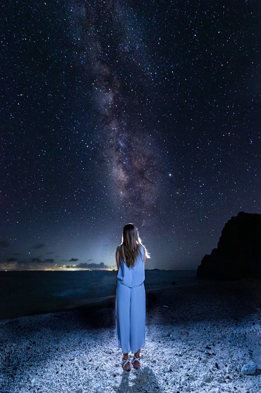 満天の星空と