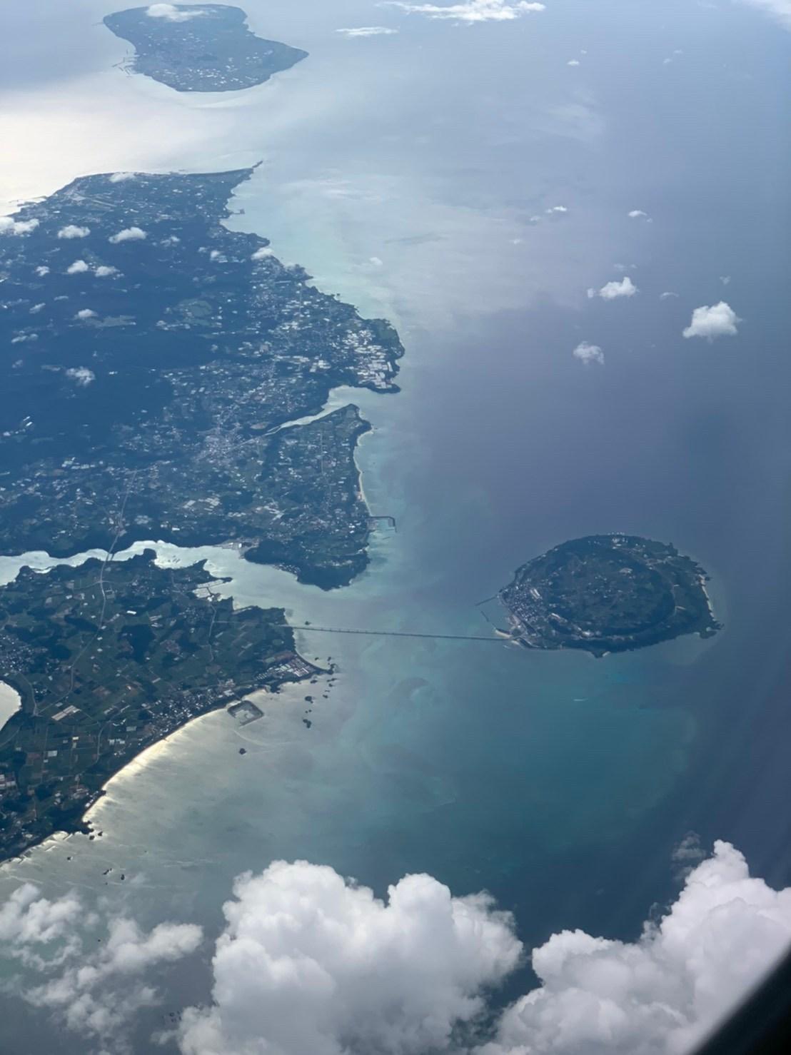 上空から見た古宇利島